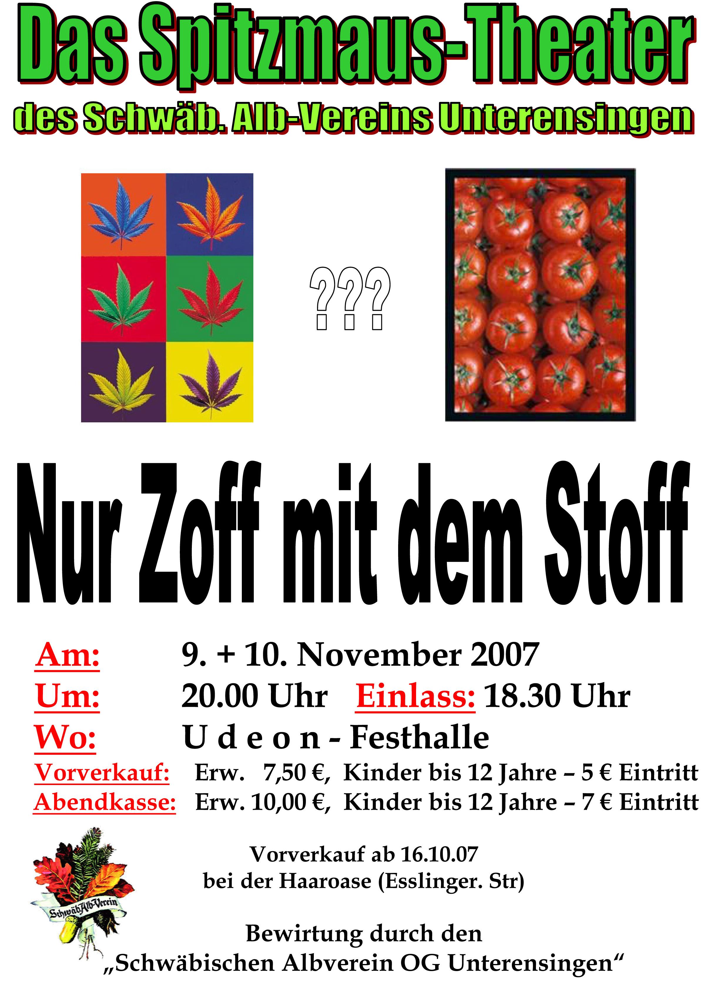 Plakat_2007_Nur-Zoff-mit-dem-Stoff